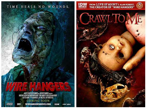Wire Hangers Movie & Crawl to Me Comic Series