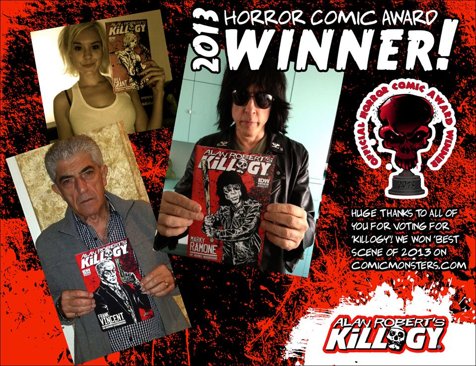 Alan Robert's KILLOGY Wins 2013 Horror Comic Award!