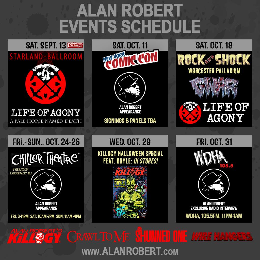 Alan Robert Events Schedule