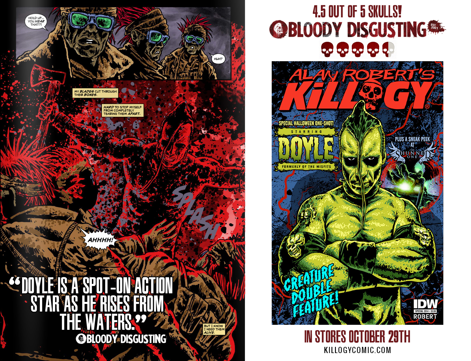 Killogy Halloween Special Gets 4.5 out of 5 Skulls on Bloody Disgusting!