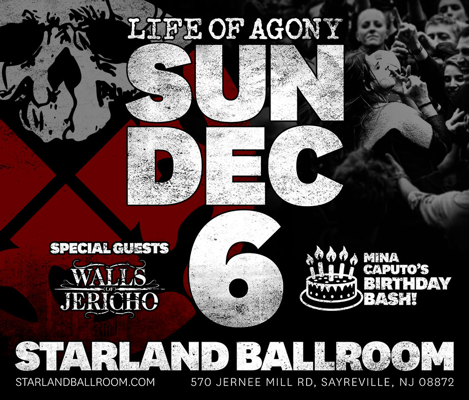 Life of Agony at Starland Ballroom December 6th!