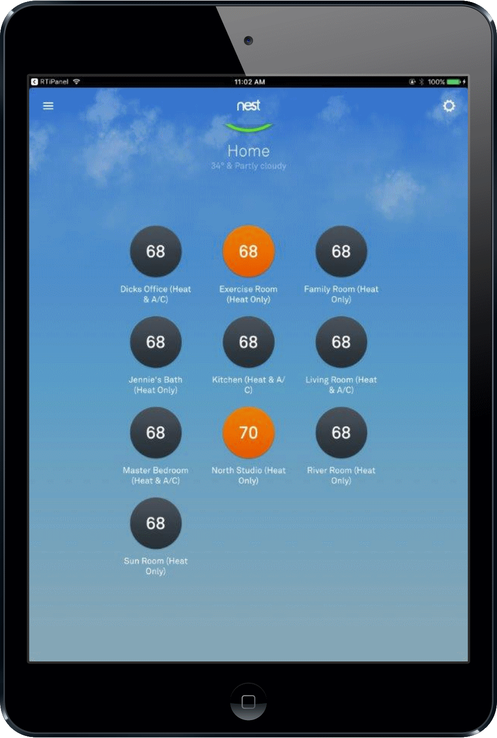 Universal Ipad Remote - Nyack, NY - HV Home Media - Hudson Valley Home Media - Nest Universal Remote on Ipad - Climate Control in Smart Home