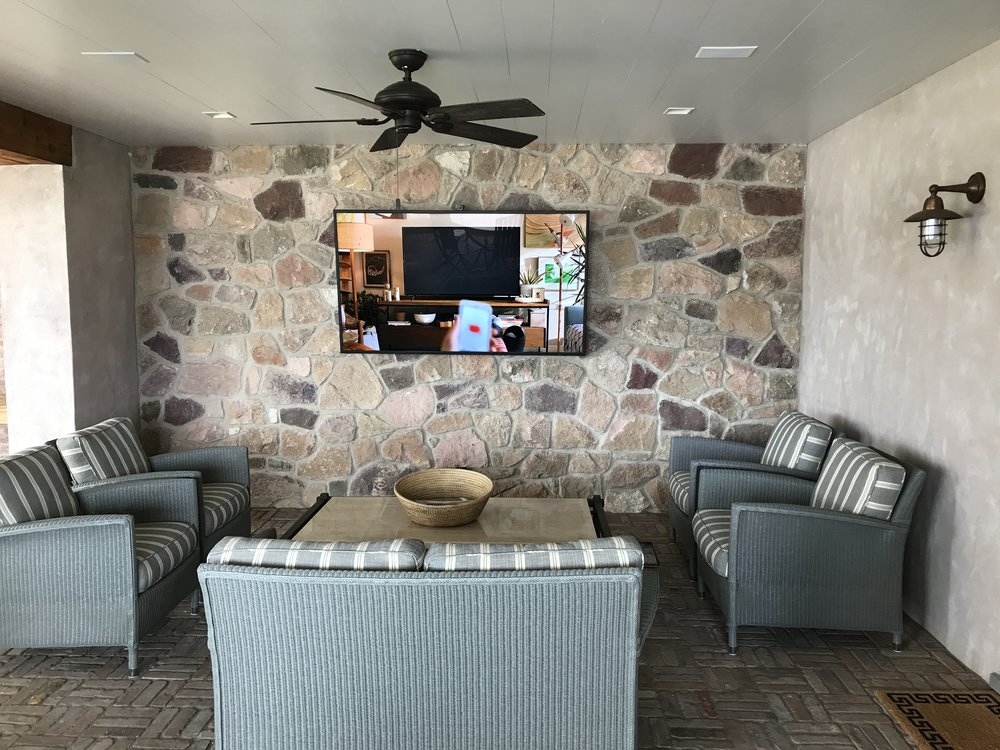 75 inch waterproof outdoor television installed by Hudson Valley Home Media in - Palisades, New York (2).JPG