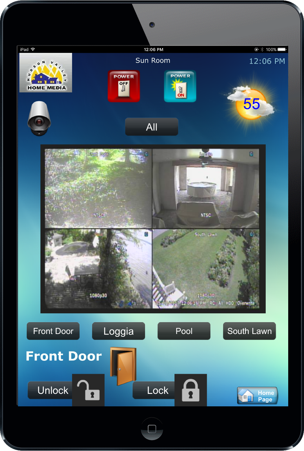 Smart Security Cameras HV Home Media Smart Home Monitoring Installation