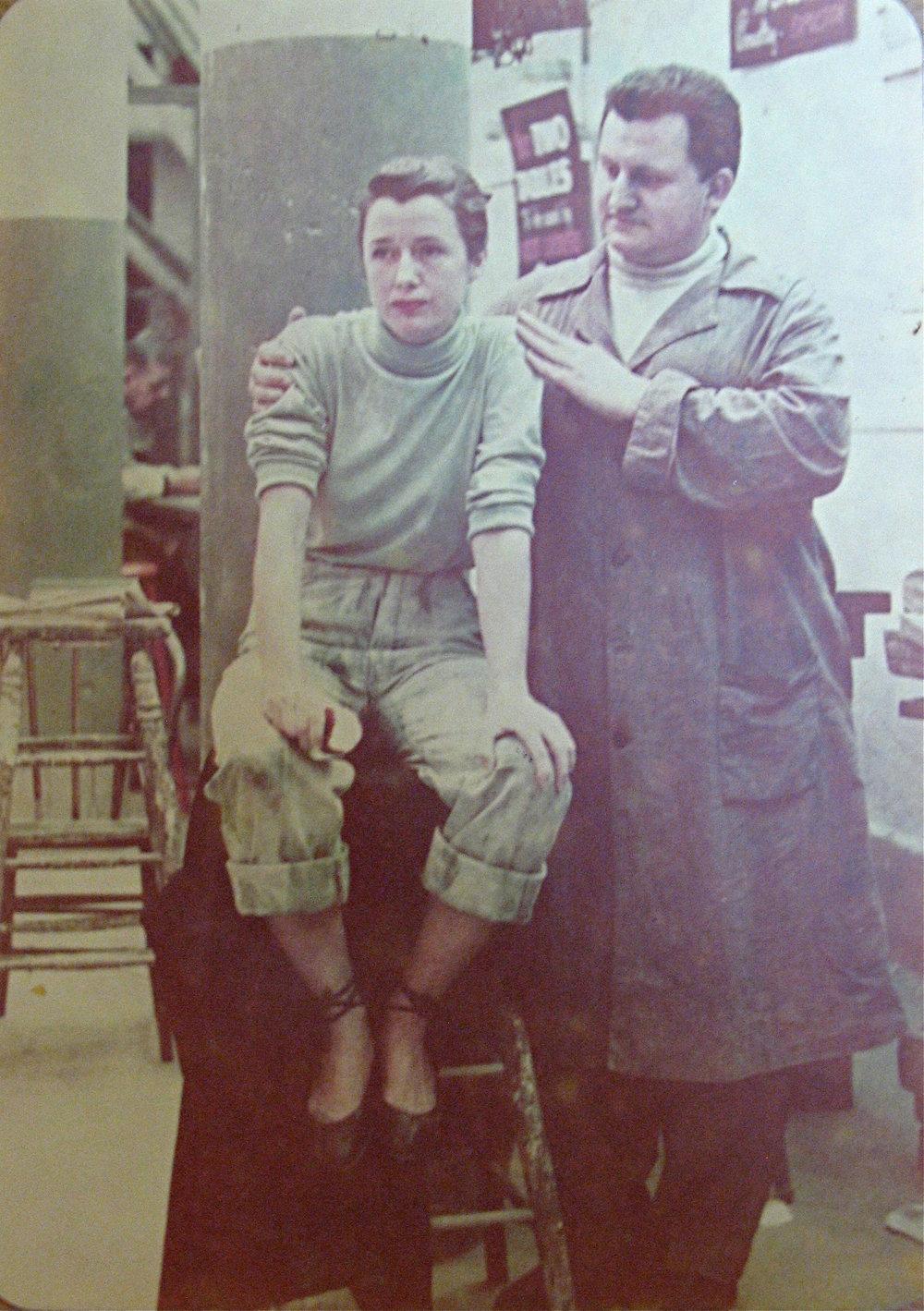Emil posing fellow ASL student Audrey Nunn, c.1949.