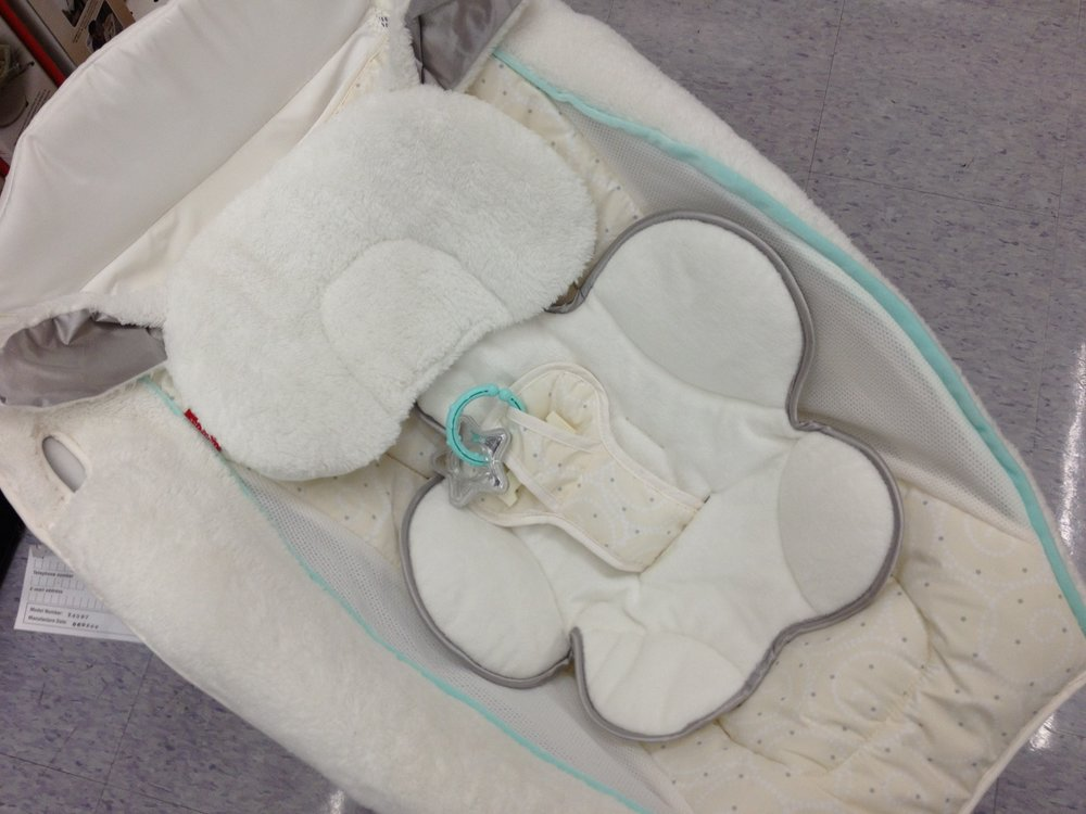 The Rock n' Play™ Sleeper puts infants in an inclined sitting position which can be accentuated by the included padded head supports. Research has suggested infants in inclined devices may be at an increased risk of upper airway obstruction and oxygen desaturation.  -