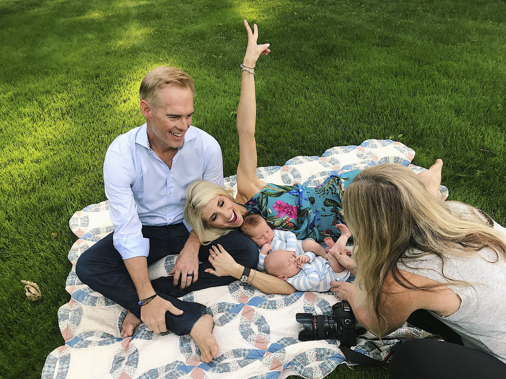 Newborn Photographer Stephanie Cotta gets up close with the Buck twins and their famous parents!