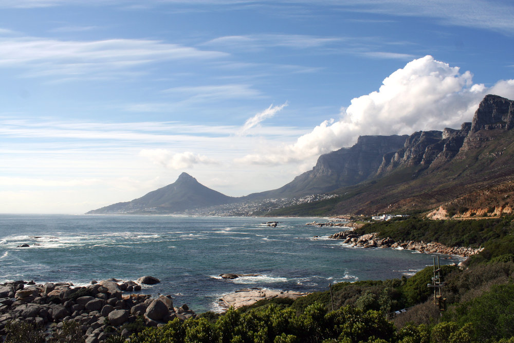 A scenic view along the route toward Cape Point.