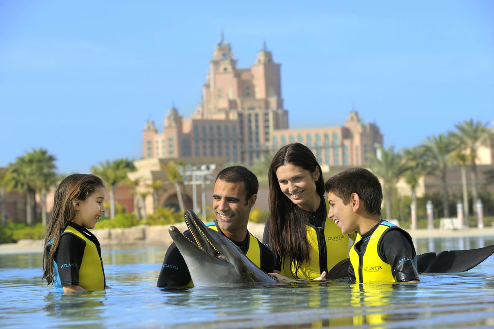 Just like in The Bahamas, there's plenty of family fun to be had at the Atlantis in the UAE.