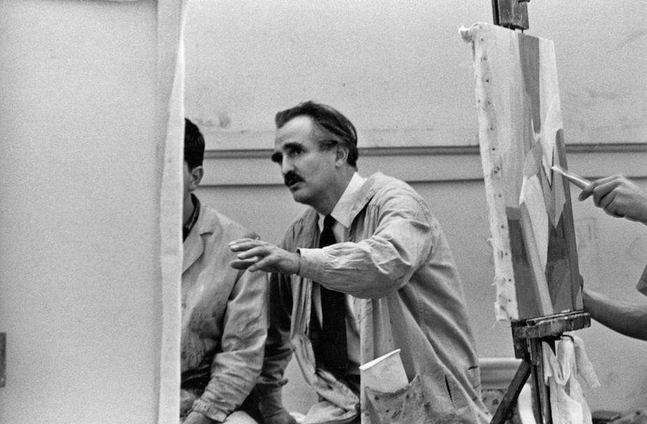 Arthur Osver teaching at Washington University, 1962.