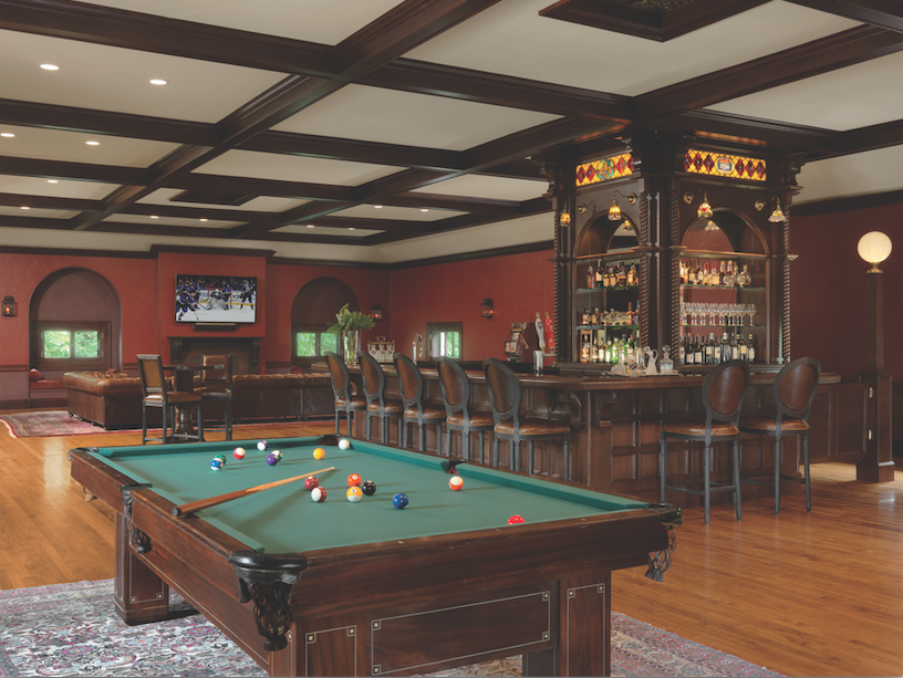 A 19th century ballroom is now a spectacular British pub, complete with billiards, deck shuffleboard and brews on tap.