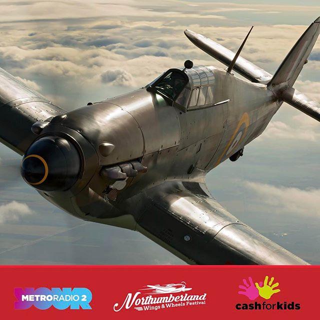You'll hear the roar of the Hawker Hurricanes V12 Merlin engine on both Saturday & Sunday #nwwf #raf #northumberland #festival #hurricane #bbmf