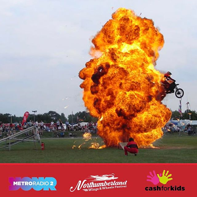 International stunt teams will be joining us for the Festival for some adrenaline fuelled displays! #stunt #nwwf #explosion #northumberland #festival #display