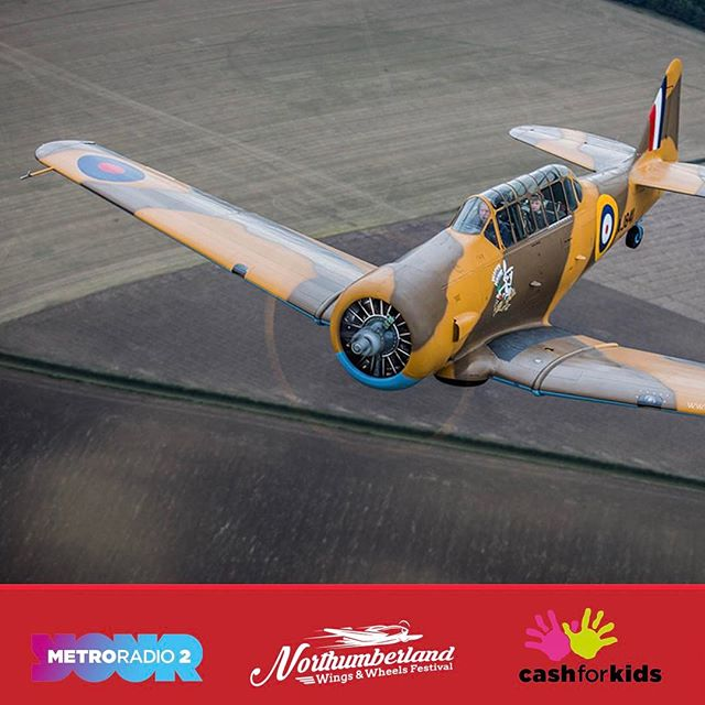 Flown in a warbird before? Over Northumberland? Upside down? Didn't think so... AJ841 will be joining us for the Festival.  Book the flight of your life #northumberland #carshow #festival #nwwf #harvard #warbird #nofilter @metroradiouk @northumberland_uk