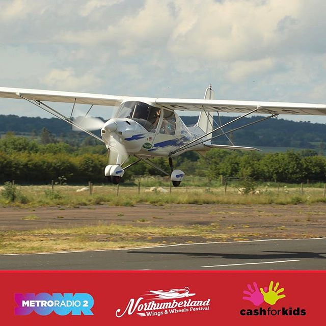Take a flight with Purple Aviation during the Wings & Wheels Festival from just £50. You can view the Festival from the air and see the awesome scenery of Northumberland! #northumberland #carshow #festival #nwwf #flying #aviation @northumberland_uk