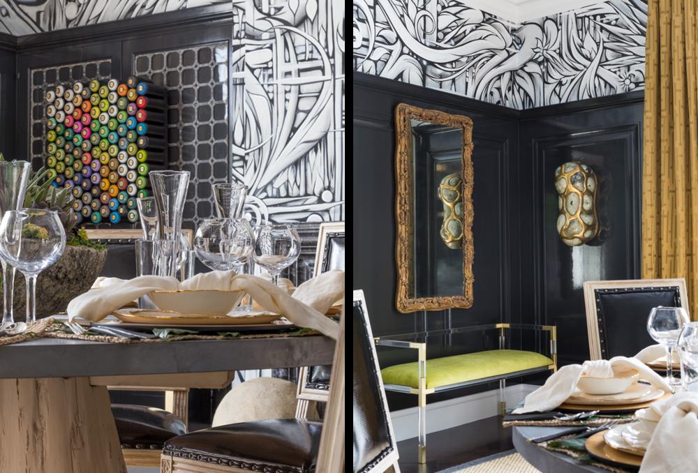 san francisco decorator showcase dining room ian ross mural