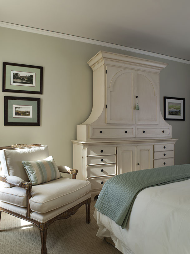 formal bedroom with armoire