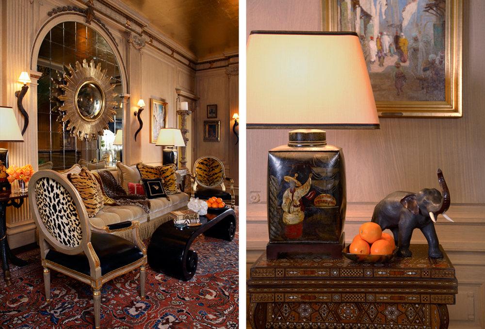 italianate hallway sitting area