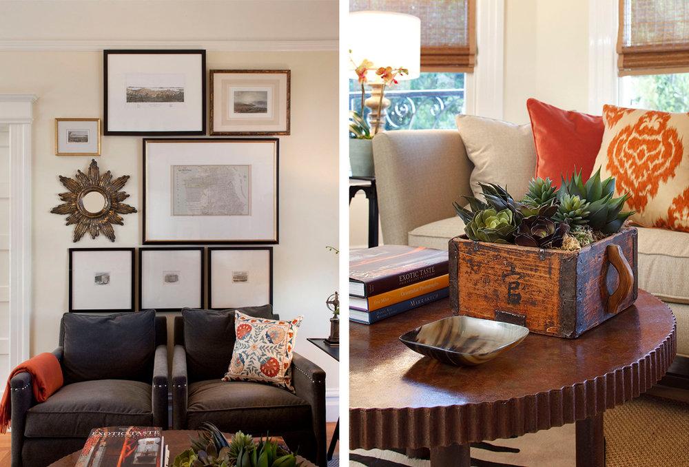 eclectic victorian living room