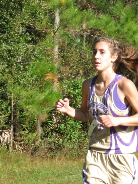 Me running in 2009 in a cross country race