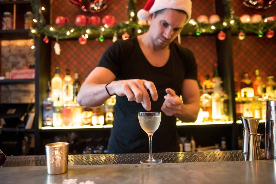 Nico de Soto, co-owner of Mace, which is dubbed Miracle on Ninth Street during the holiday season. PHOTO: GABI PORTER