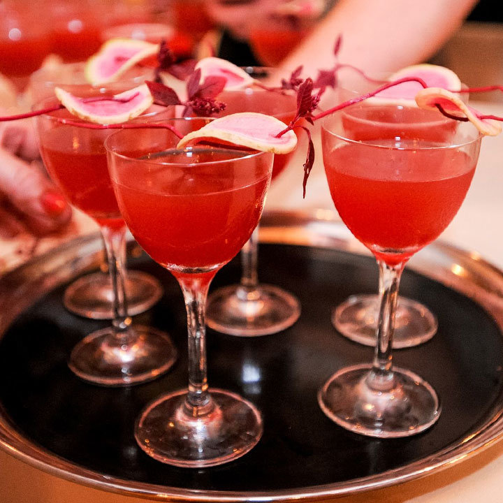 Radish and Watermelon Fizz mocktail with a dash of Hawaiian red salt by Gina Chersevani for William Grant & Sons (image: Jennifer Mitchell)