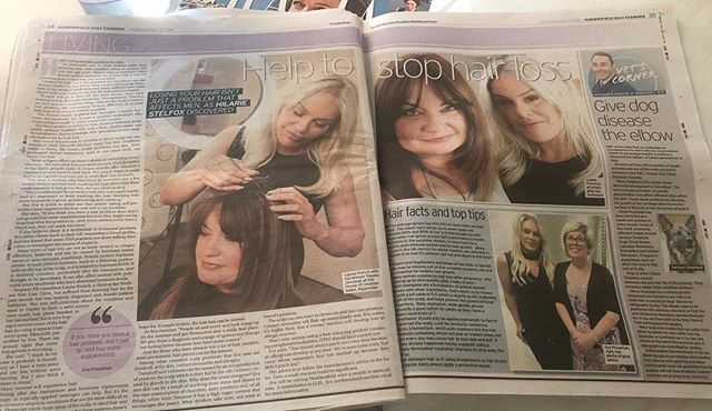 We would like to say a huge thankyou too the Huddersfield examiner @hilariestelfox thankyou so much for our amazing write up we absolutely loved your visit @louisefrecnchfoster @evaproudmen 💓💓💓 📞 01422747404 🏠 Ingfield Enterprise Centre Cherry Nook Road  Huddersfield HD21JD 📧info@northernhairlossclinic.co.uk  #northanhairlossclinic #houseofcreation #hocacademy #amazingwriteup #examiner #huddersfeild #hairloss #extensionspecialist #hairdressingcourses #hairextensions #intergrationsystem #volumizer #hairinrecovery #colourexperts #hairexperts #hairgoals  #thebeautifultruth  #rippendon #leeds #halifax #kuwait #dubai #london #uk #harrogate