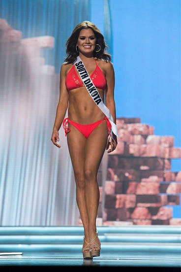 Walking the Miss USA stage