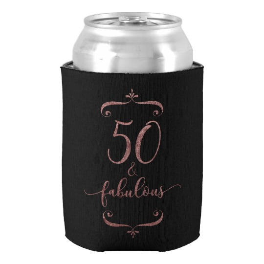 Maybe you have friends turning 50 soon, or recently. Great gift, great party favor and great fun for you, too, if you happen to be the birthday girl. Features rose gold glitter effect. Because yay bling.
