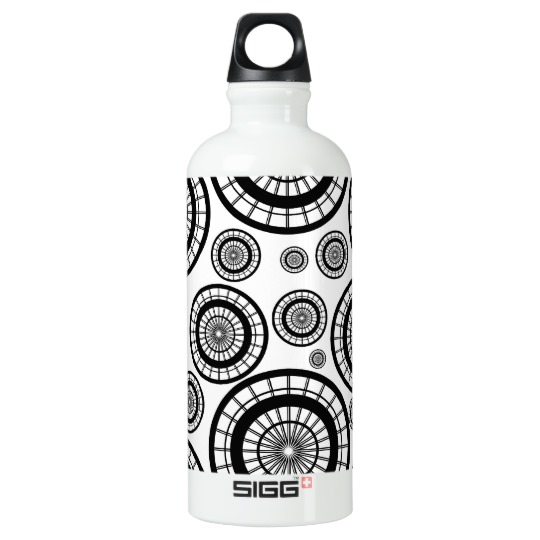 black_and_white_repeating_wheel_pattern_water_bottle.jpg