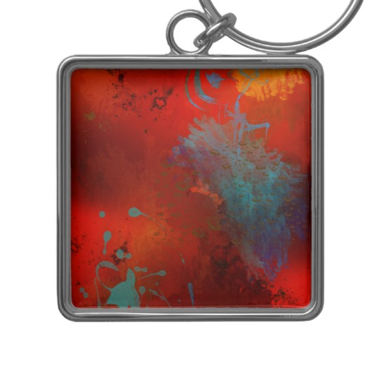 red_aqua_gold_grunge_digital_abstract_art_keychain-designed-by-melody-watson.jpg