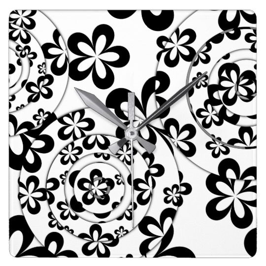 black_and_white_rings_and_flowers_square_wall_clock-designed-by-melody-watson.jpg