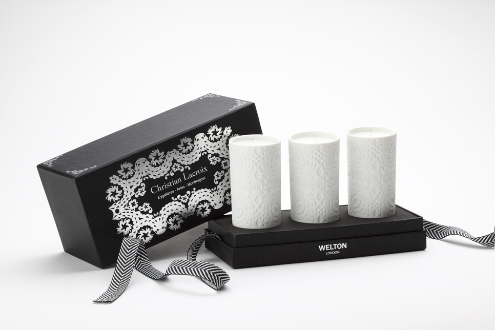 Christian Lacroix X Welton London candle gift box