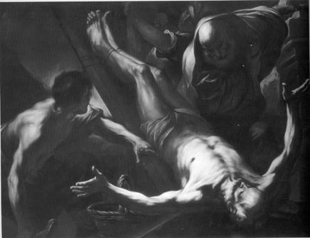 Beinaschi :  Martyrdom of St. Peter  (Milan, Brera; now Golasecca, S. Maria Assunta)