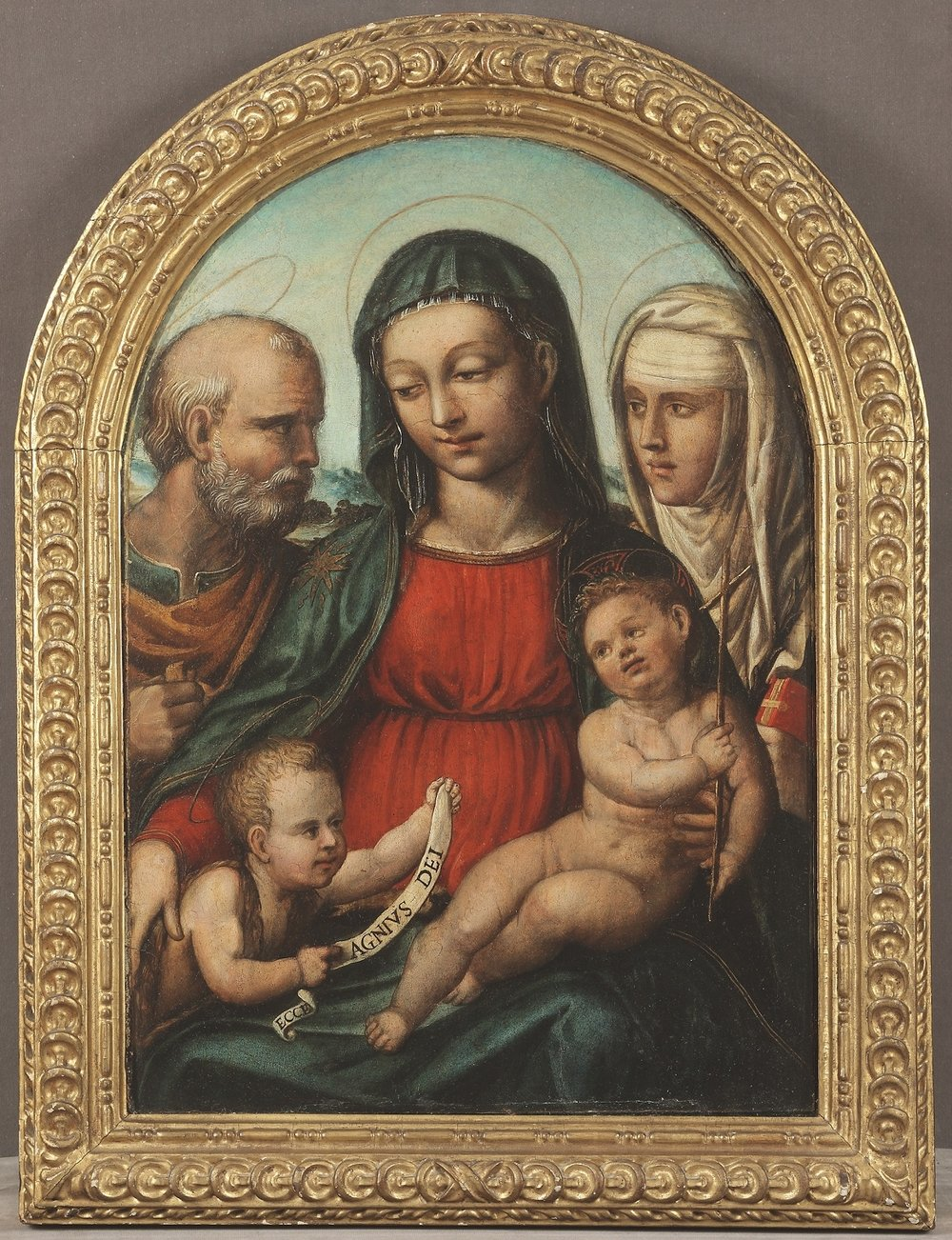 BARTOLOMEO DI DAVID   Holy Family with St. John the Baptist and St. Catherine of Siena