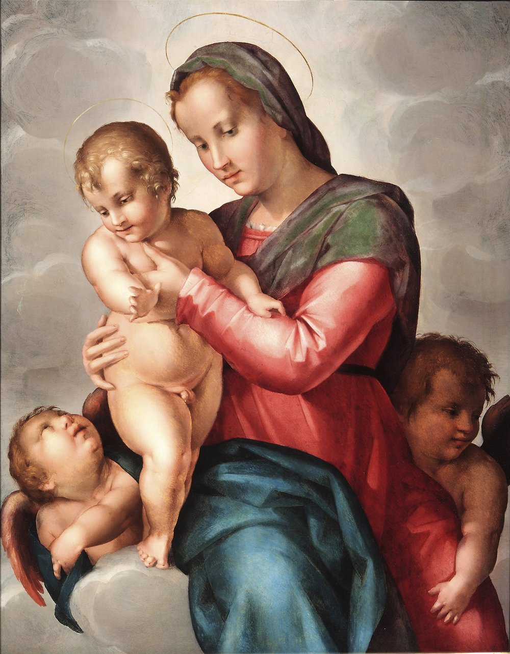 PIER FRANCESCO DI JACOPO FOSCHI   Madonna and Child with Two Angels