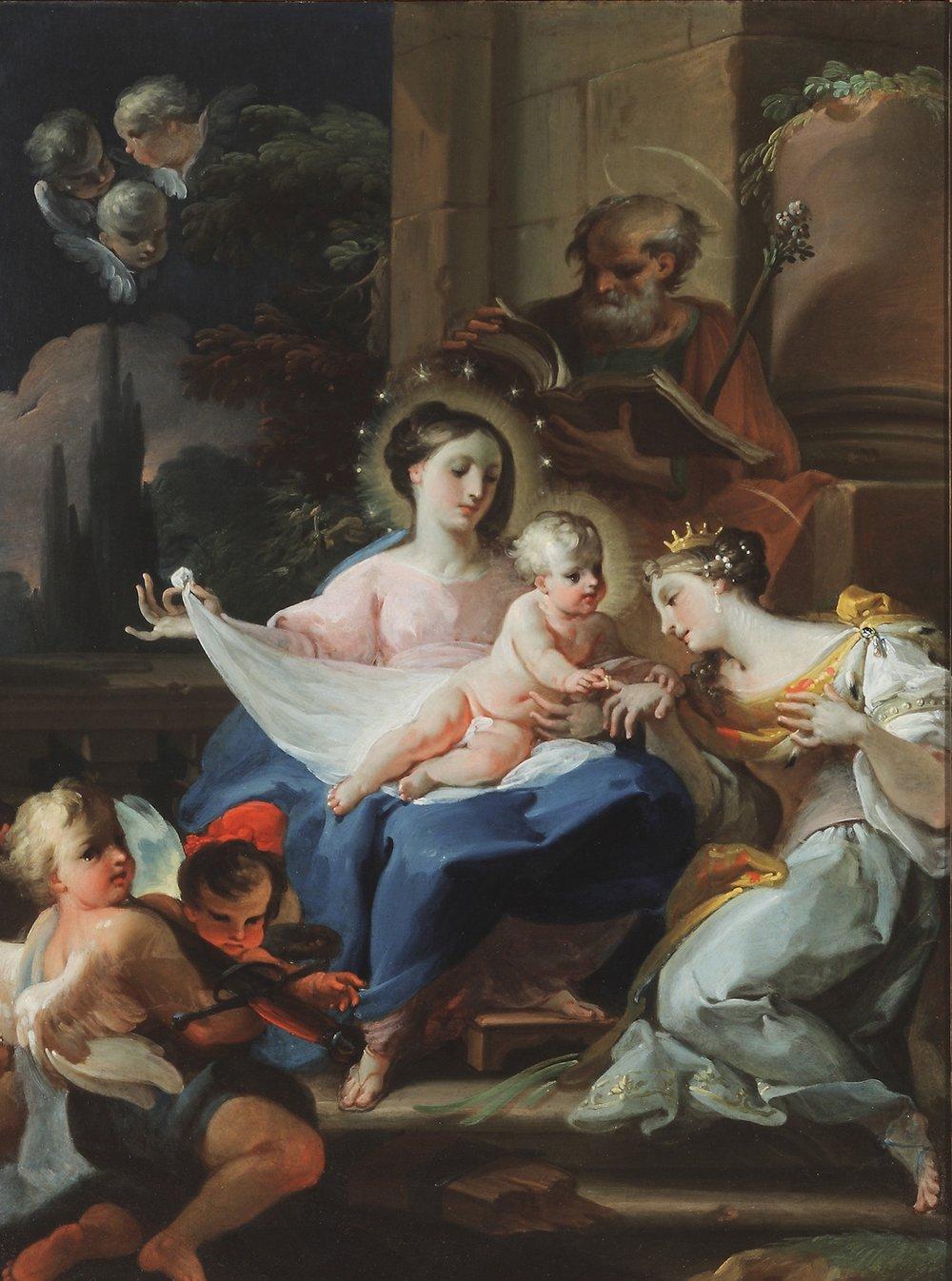CORRADO GIAQUINTO The Mystic Marriage of St. Catherine of Alexandria