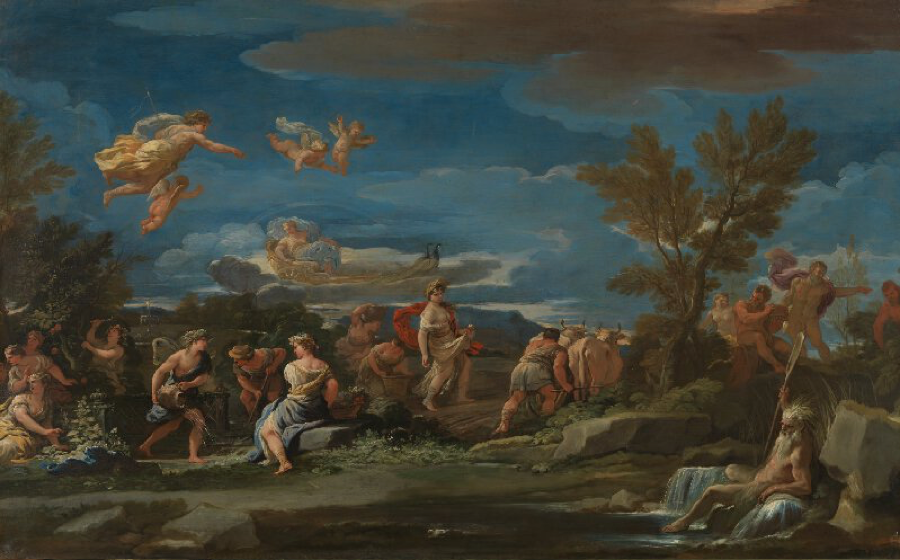 Luca Giordano:  Mythological Scene of Agriculture      (London, National Gallery)