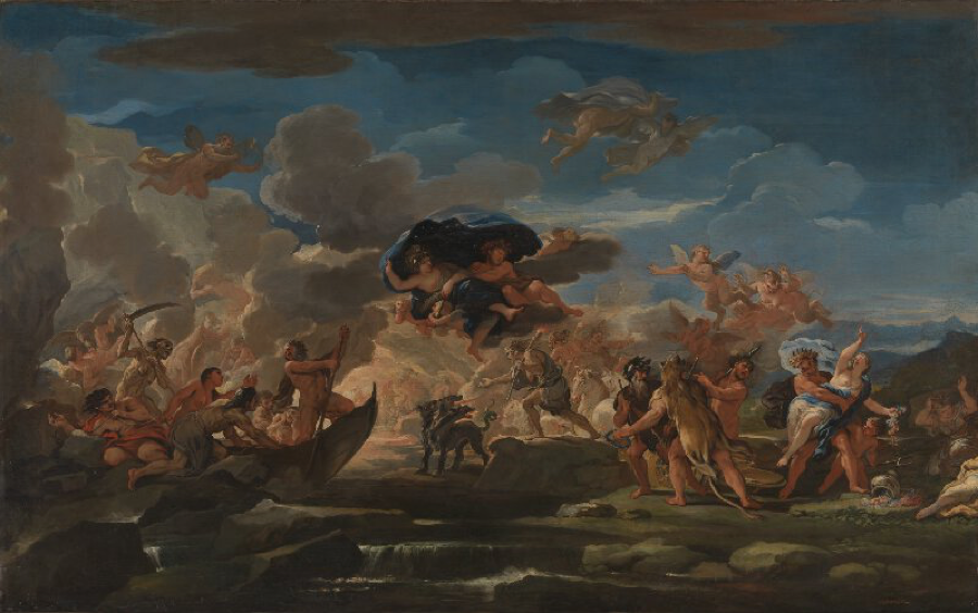 Luca Giordano:  Mythological Scene with the Rape of Proserpine     (London, National Gallery)