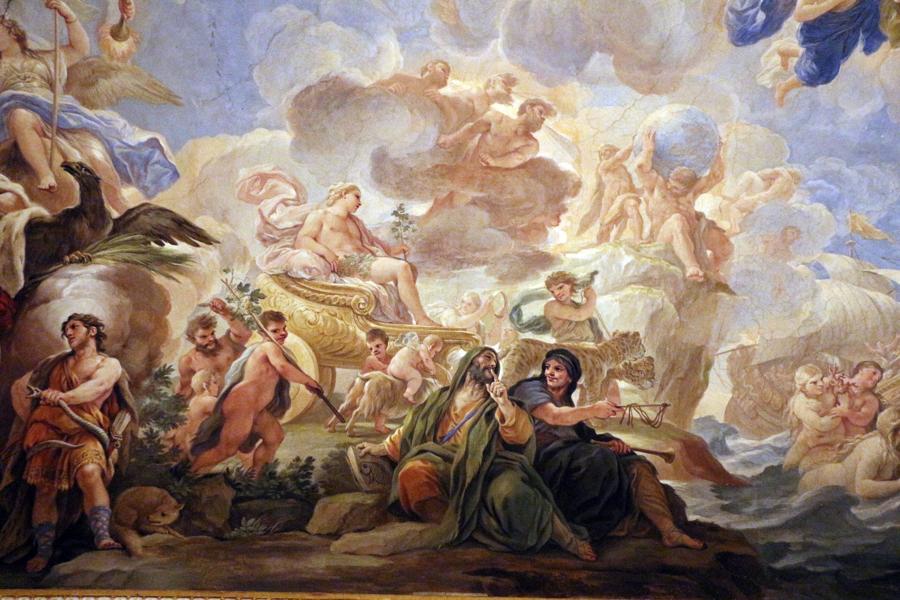 Luca Giordano:  Triumph of Bacchus     Palazzo Medici-Riccardi, Florence