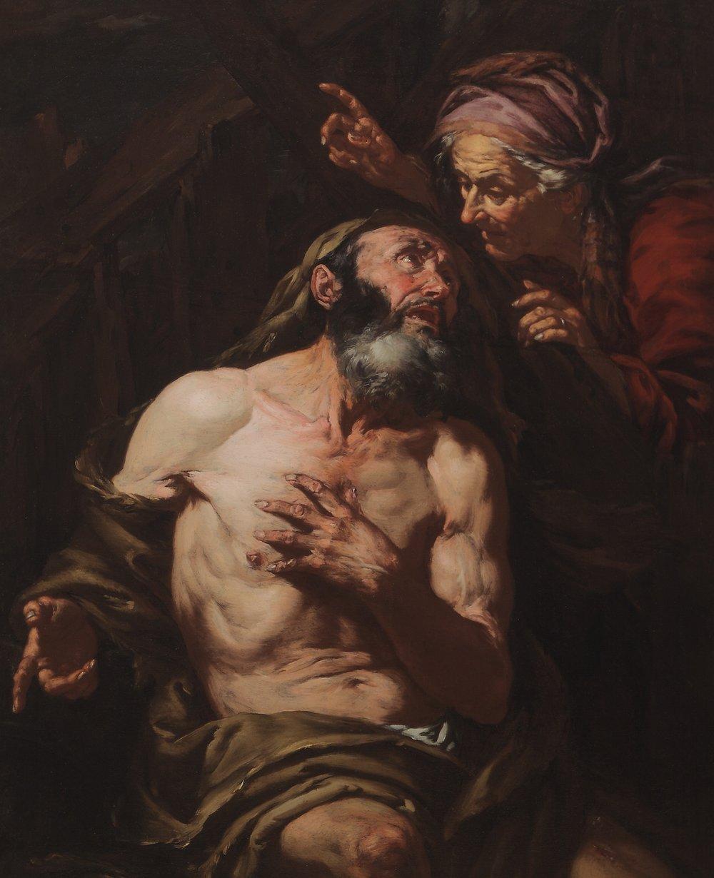GIOVANNI BATTISTA LANGETTI   Job Cursed by His Wife
