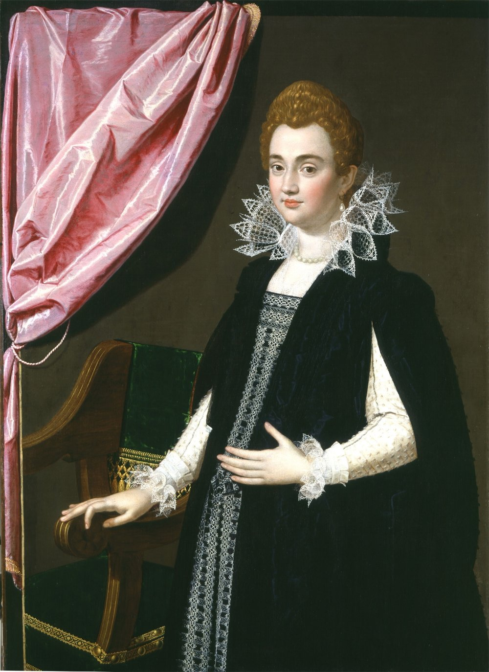 SCIPIONE PULZONE,  called  IL GAETANO   Portrait of Maria de' Medici, later Queen of France
