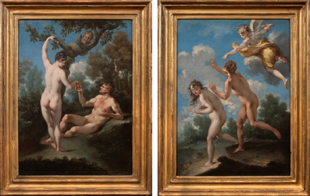 MICHELE ROCCA   The Temptation of Adam and Eve The Expulsion from Paradise