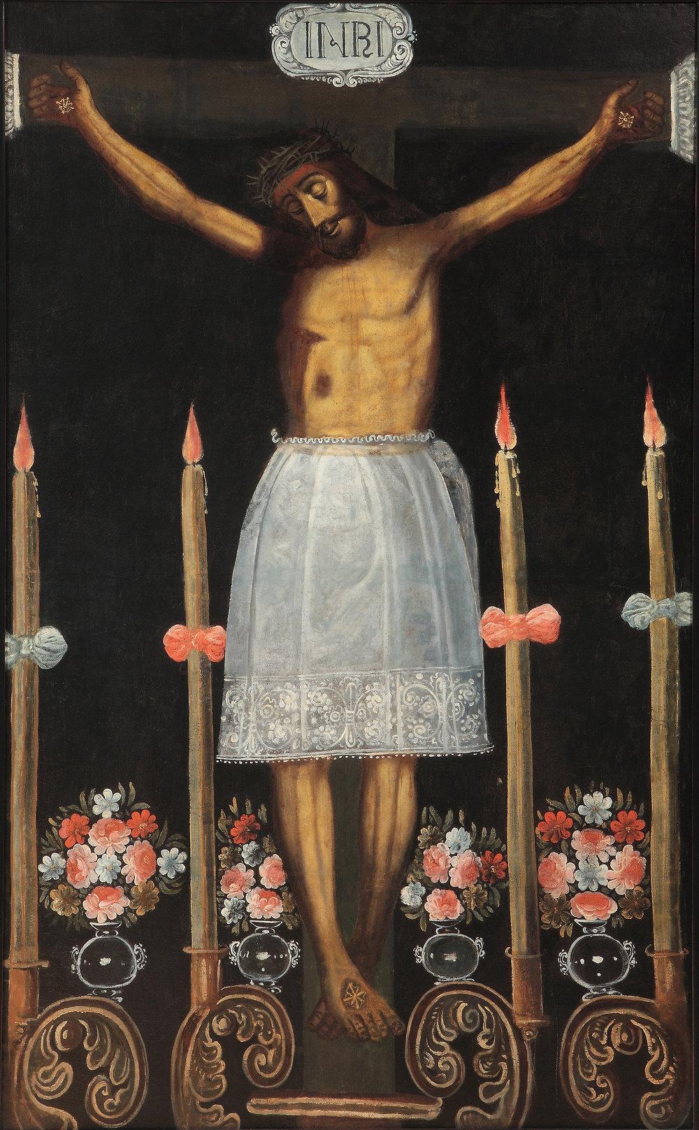 Spanish Colonial, Peruvian, Cuzco, Eighteenth Century,  Christ of the Earthquakes