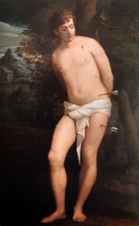 1) After Titian, Oil on canvas, 182 x 113.5 cm, Bologna, Pinacoteca Nazionale, on loan to Palazzo Madama, Rome, (inv. 920)