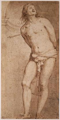 7) Red chalk on paper, 300 x 148mm.  Bayonne, Musée Bonnat, Inv. NI11761
