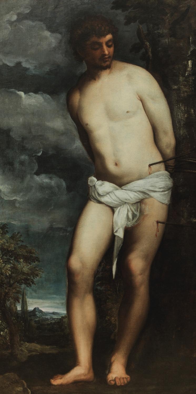 TIZIANO VECELLIO , called  TITIAN   St. Sebastian