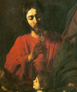 Fig. 8 Nicolas Tournier, Suffer my Children, Detail (Galleria Corsini, Rome)