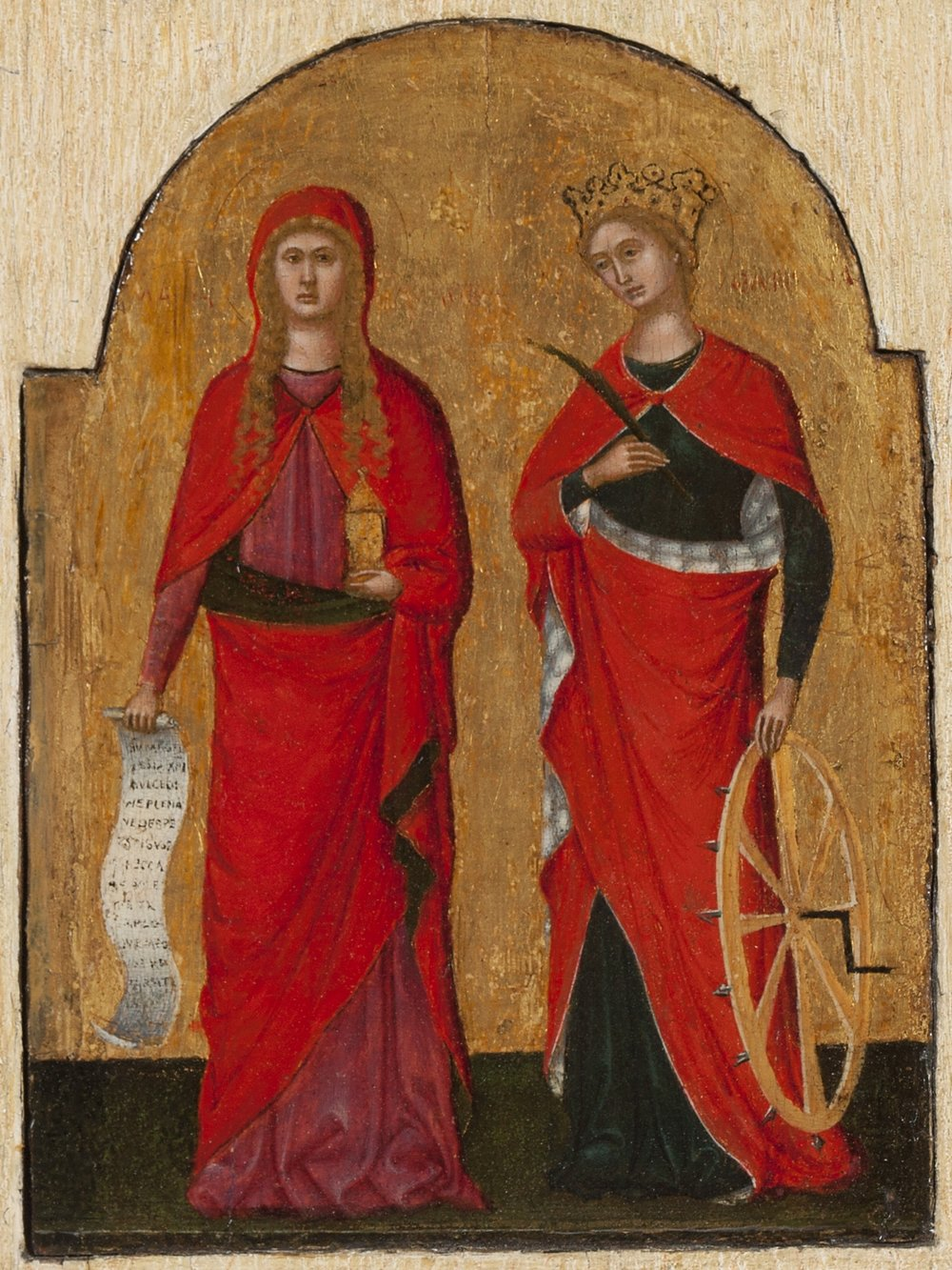 LORENZO VENEZIANO   Saints Mary Magdalene and Catherine of Alexandria