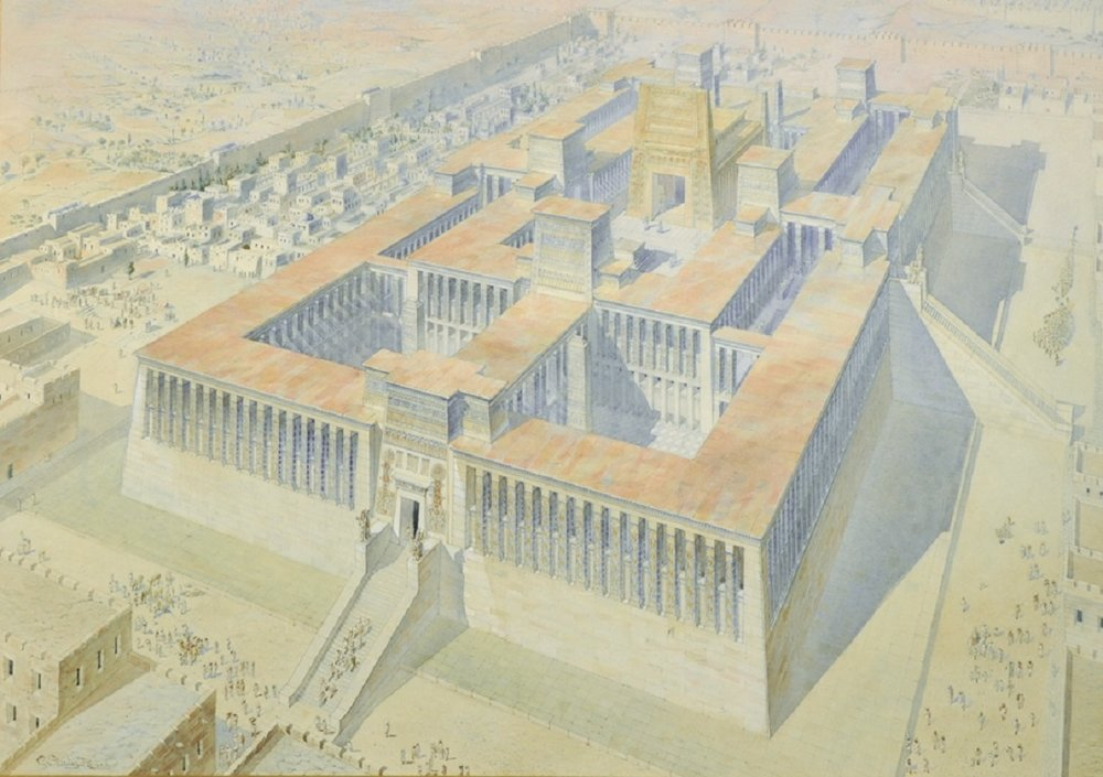 Charles Stanley Peach,  Solomon's Temple in Jerusalem